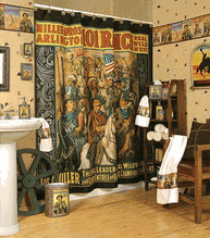 Western Shower Curtains, Country Shower Curtains, Old Wild West Shower  Curtain With Horses And