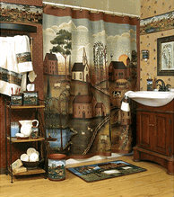 Country Shower Curtains A Western Style Theme For The
